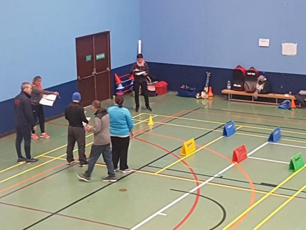Coach Developers in a sportshall setting