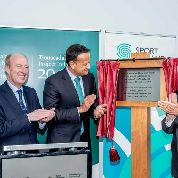 An Taoiseach, Leo Varadkar Officially Opens Phase Two Of The Sport Ireland National Indoor Arena