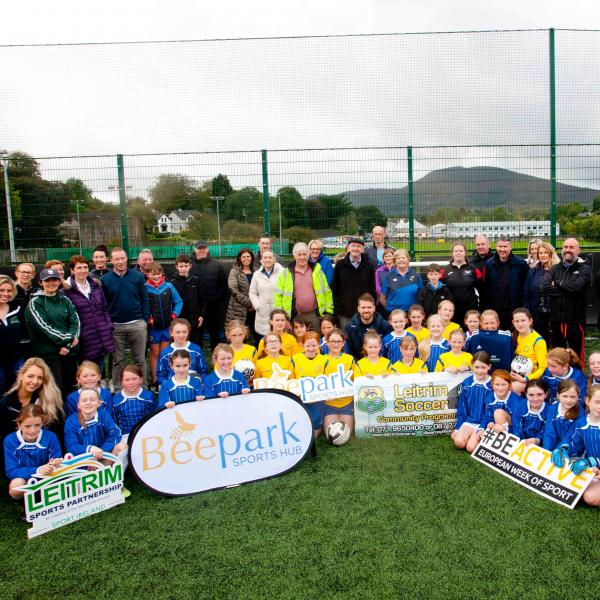 group of children pose for a photo in Leitrim for European Week of Sport