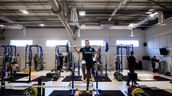 Athlete working out in the Sport Ireland Institute