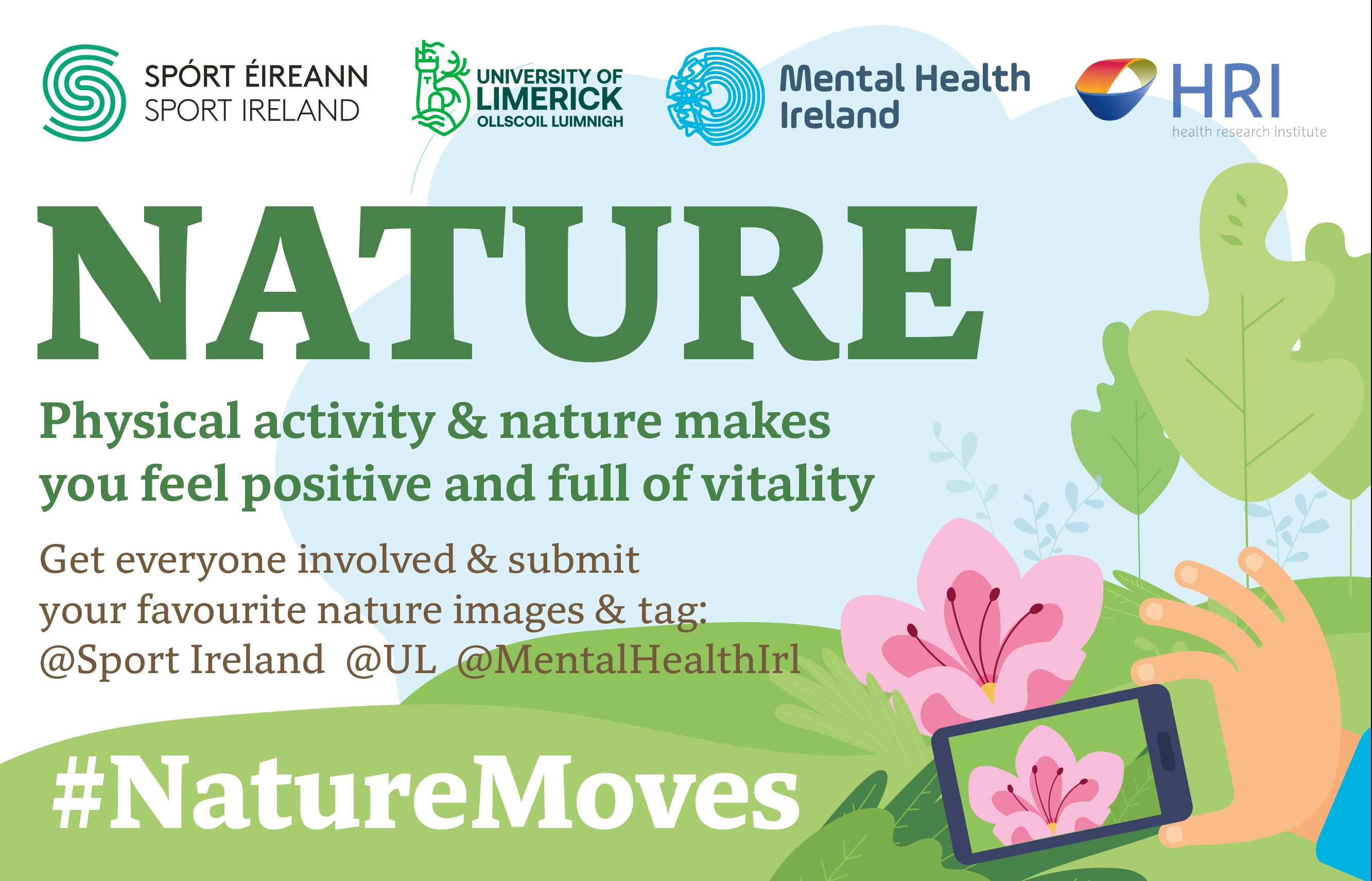 Tag SportIreland in your nature photos and use the hashtag #naturemoves
