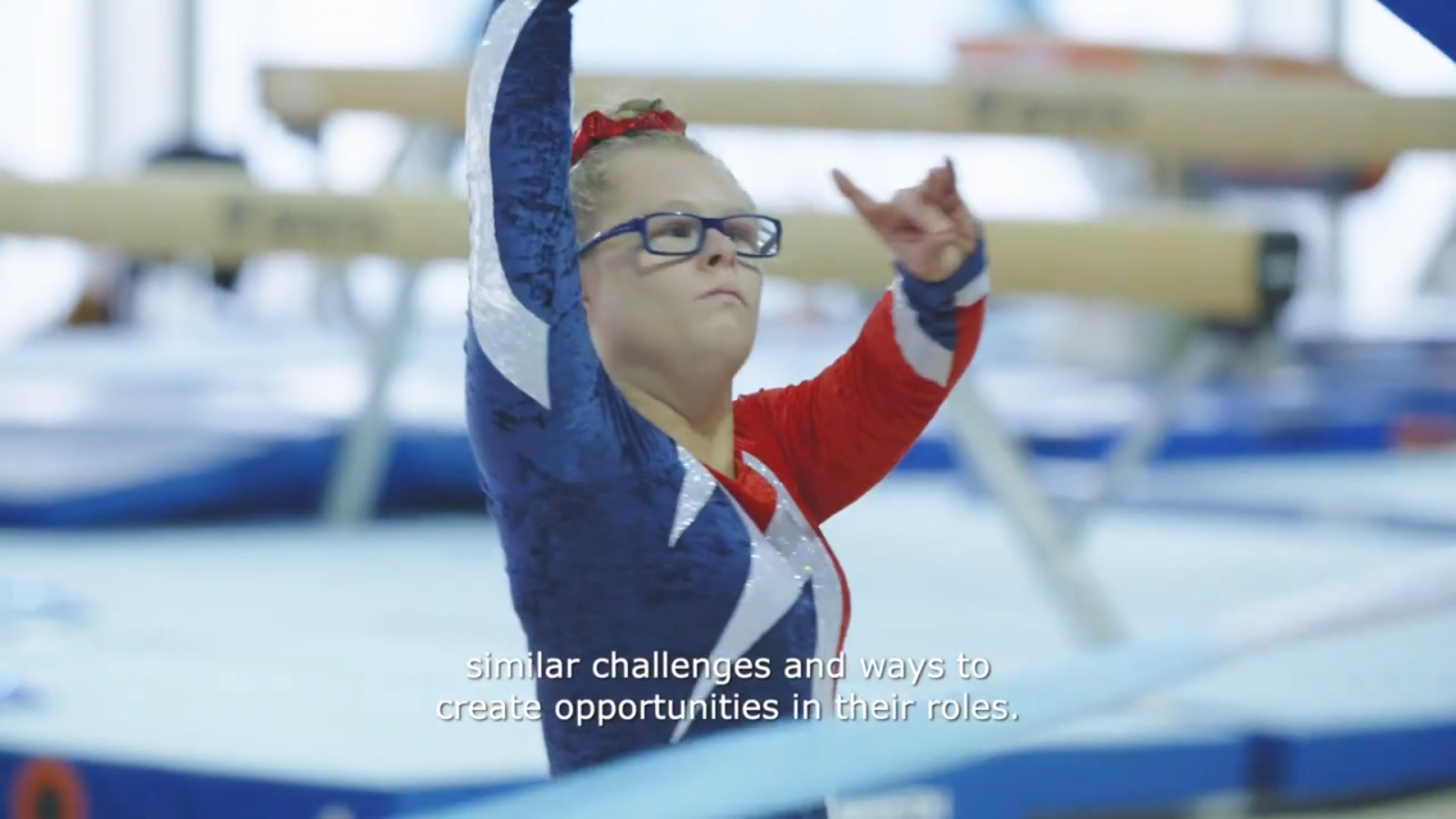 Gymnastics athlete featured in the Arena Programme Promo video